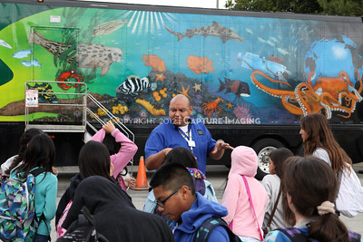 1202026-014        CARSON, CA - FEBRUARY 27: The NHM Seamobile at Carnegie Middle School on February 27, 2012 in Carson, California. (Photo by Ryan Miller/Capture Imaging)