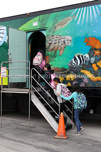 1202026-027        CARSON, CA - FEBRUARY 27: The NHM Seamobile at Carnegie Middle School on February 27, 2012 in Carson, California. (Photo by Ryan Miller/Capture Imaging)