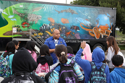 1202026-012        CARSON, CA - FEBRUARY 27: The NHM Seamobile at Carnegie Middle School on February 27, 2012 in Carson, California. (Photo by Ryan Miller/Capture Imaging)
