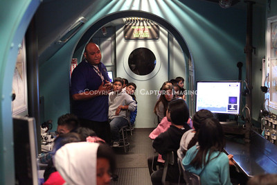 1202026-036        CARSON, CA - FEBRUARY 27: The NHM Seamobile at Carnegie Middle School on February 27, 2012 in Carson, California. (Photo by Ryan Miller/Capture Imaging)