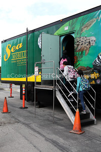 1202026-029        CARSON, CA - FEBRUARY 27: The NHM Seamobile at Carnegie Middle School on February 27, 2012 in Carson, California. (Photo by Ryan Miller/Capture Imaging)