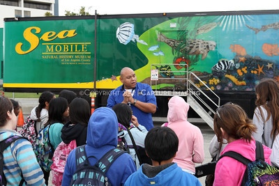 1202026-009        CARSON, CA - FEBRUARY 27: The NHM Seamobile at Carnegie Middle School on February 27, 2012 in Carson, California. (Photo by Ryan Miller/Capture Imaging)