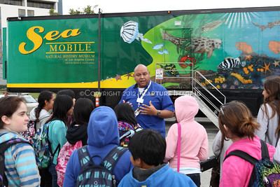 1202026-007        CARSON, CA - FEBRUARY 27: The NHM Seamobile at Carnegie Middle School on February 27, 2012 in Carson, California. (Photo by Ryan Miller/Capture Imaging)