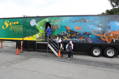 1202026-016        CARSON, CA - FEBRUARY 27: The NHM Seamobile at Carnegie Middle School on February 27, 2012 in Carson, California. (Photo by Ryan Miller/Capture Imaging)