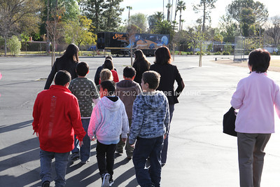 1202021-021        WOODLAND HILLS, CA - FEBRUARY 21:  The NHM Skymobile at Calvert Elementary School on February 21, 2012 in Woodland Hills, California. (Photo by Ryan Miller/Capture Imaging)