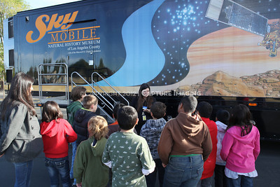 1202021-046        WOODLAND HILLS, CA - FEBRUARY 21:  The NHM Skymobile at Calvert Elementary School on February 21, 2012 in Woodland Hills, California. (Photo by Ryan Miller/Capture Imaging)