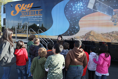 1202021-047        WOODLAND HILLS, CA - FEBRUARY 21:  The NHM Skymobile at Calvert Elementary School on February 21, 2012 in Woodland Hills, California. (Photo by Ryan Miller/Capture Imaging)