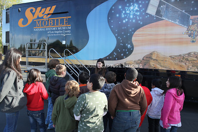 1202021-048        WOODLAND HILLS, CA - FEBRUARY 21:  The NHM Skymobile at Calvert Elementary School on February 21, 2012 in Woodland Hills, California. (Photo by Ryan Miller/Capture Imaging)