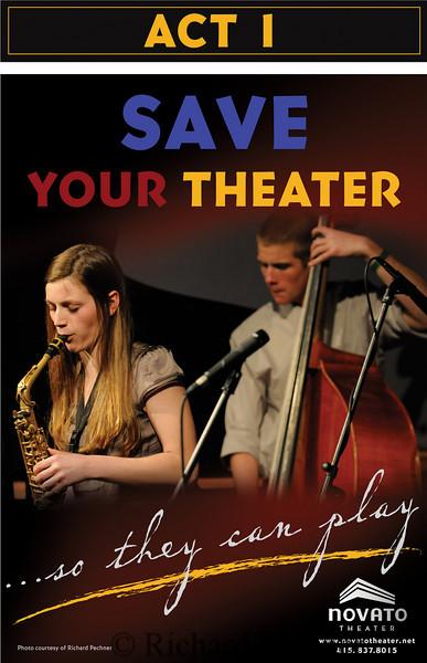 1st campaign poster for Novato Theater fund raiser.