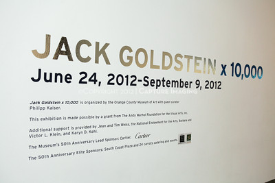 "1206185-002    NEWPORT BEACH, CA - JUNE 23: The ""Jack Goldstein x 10,000"" Exhibition Members' Opening Party at the Orange County Museum of Art on June 23, 2012 in Newport Beach, California. (Photo by Ryan Miller/Capture Imaging)"