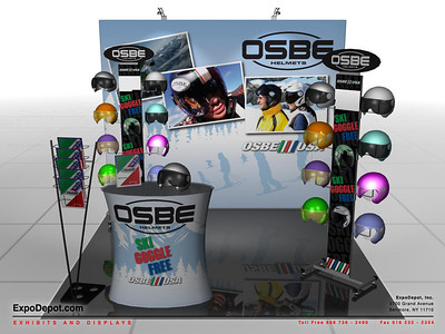 OSBE USA, 10' Entasi Flat Frame Rendering  http://expodepot.com/entasi-showcase-display-c-142.html
