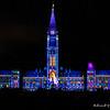 Son et Lumiere light show on the parliament buildings, Ottowa