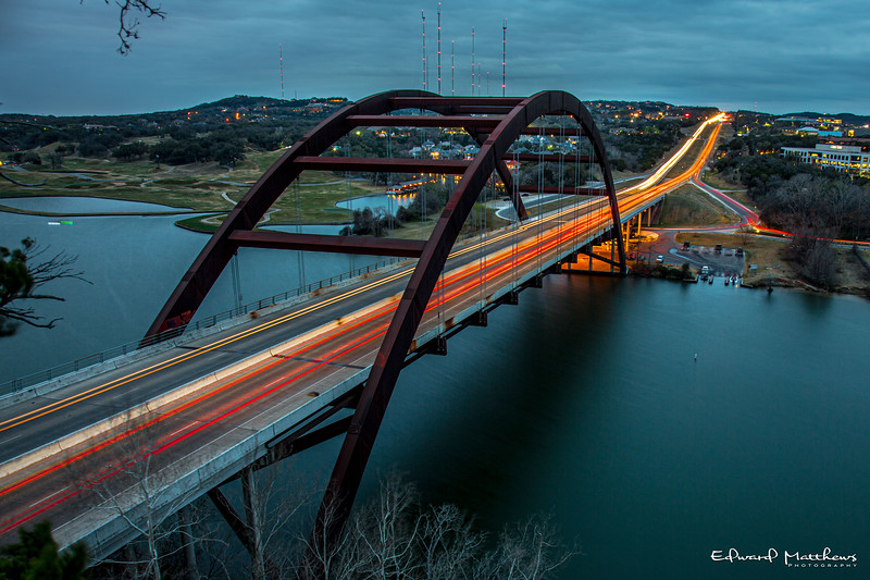 Austin 360 bridge, an iconic landmark.