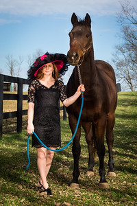 Rosie Napravnik and Ball Four at Old Friends 11.11.13