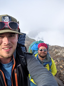 Nathan Hooks (left) and Ibrahim Cetindemir. Mount Rainier National Park 2019 by Nathan Hooks.