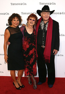 LOS ANGELES, CA - OCTOBER 2: (L-R) Getty Research Institute Associate Curator Rani Singh, artist Judy Chicago and artist DeWain Valentine arrive during the Pacific Standard Time: Art in LA 1945-1980 opening event held at the Getty Center on October 2, 2011 in Los Angeles, California. (Photo by Ryan Miller/Capture Imaging)