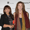 LOS ANGELES, CA - OCTOBER 2: Artist Patssi Valdez (L) and Pamela Colburn (R) arrive during the Pacific Standard Time: Art in LA 1945-1980 opening event held at the Getty Center on October 2, 2011 in Los Angeles, California. (Photo by Ryan Miller/Capture Imaging)