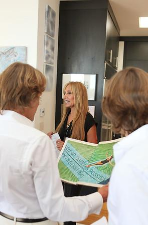 BEVERLY HILLS, CA - OCTOBER 1: Host Rosette Delug speaks during a VIP tour the Rosette Delug art collection at her home on October 1, 2011 in Beverly Hills, California. (Photo by Ryan Miller/Capture Imaging)