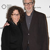 LOS ANGELES, CA - OCTOBER 2: Filmmaker Jane Weinstock (L) and Artist Jim Welling (R) arrive during the Pacific Standard Time: Art in LA 1945-1980 opening event held at the Getty Center on October 2, 2011 in Los Angeles, California. (Photo by Ryan Miller/Capture Imaging)