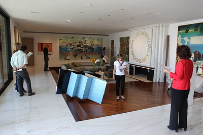 1110174-023    BEVERLY HILLS, CA - OCTOBER 1: A VIP tour of the Rosette Delug art collection at her home on October 1, 2011 in Beverly Hills, California. (Photo by Ryan Miller/Capture Imaging)