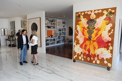 1110174-003    BEVERLY HILLS, CA - OCTOBER 1: A VIP tour of the Rosette Delug art collection at her home on October 1, 2011 in Beverly Hills, California. (Photo by Ryan Miller/Capture Imaging)