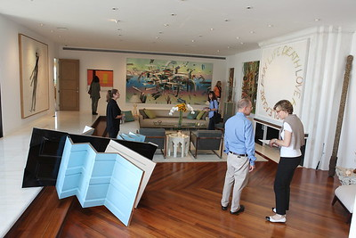 1110174-012    BEVERLY HILLS, CA - OCTOBER 1: A VIP tour of the Rosette Delug art collection at her home on October 1, 2011 in Beverly Hills, California. (Photo by Ryan Miller/Capture Imaging)