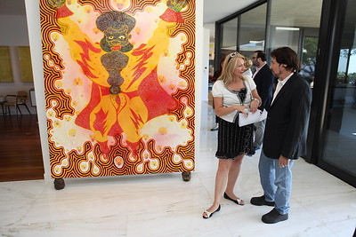 1110174-009    BEVERLY HILLS, CA - OCTOBER 1: A VIP tour of the Rosette Delug art collection at her home on October 1, 2011 in Beverly Hills, California. (Photo by Ryan Miller/Capture Imaging)