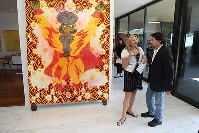 1110174-016    BEVERLY HILLS, CA - OCTOBER 1: A VIP tour of the Rosette Delug art collection at her home on October 1, 2011 in Beverly Hills, California. (Photo by Ryan Miller/Capture Imaging)
