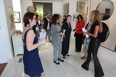1110174-005    BEVERLY HILLS, CA - OCTOBER 1: A VIP tour of the Rosette Delug art collection at her home on October 1, 2011 in Beverly Hills, California. (Photo by Ryan Miller/Capture Imaging)