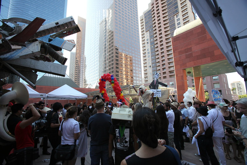 1110184-001    LOS ANGELES, CA - OCTOBER 2: The Trespass Parade at MOCA during the Pacific Standard Time: Art in LA 1945-1980 free day activities at the Los Angeles County Museum of Art on October 2, 2011 in Los Angeles, California. (Photo by Ryan Miller/Capture Imaging)