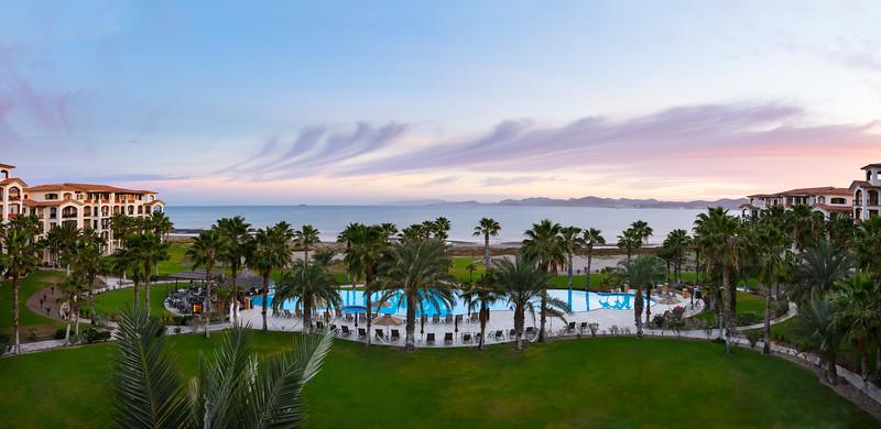 LaPaz-Paraiso_Resort-PoolShot-Sunrise-Panorama-Saturated