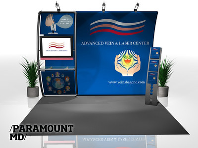 Paramount - AVLC, 8x10 Entasi Vertical Cruve w/ Stand-Off   http://expodepot.com/entasi-showcase-display-c-142.html?osCsid=7a29536a56d4fb14a271dba1f2bab6b9