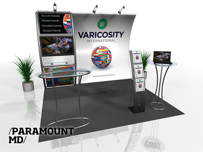 Paramount MD, Entasi Horizontal Curve w/ Stand-Off Rendering http://expodepot.com/entasi-showcase-display-c-142.html