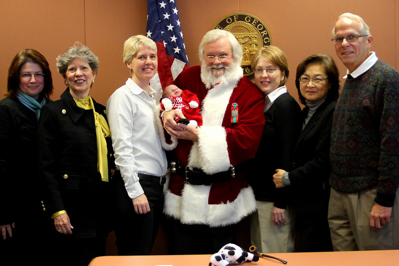 Joanne Milne Sosangelis, Ruth Claiborne, Karen Park, Lil Park, Fulton County Superior Court Judge T. Jackson Bedford, Jr., Lisa Park, Rosa Fang and George Park.  © 2010 Joanne Milne Sosangelis. All rights reserved.