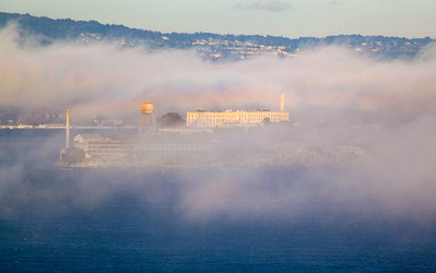 Beautiful, thick fog engulfs the Golden Gate.
