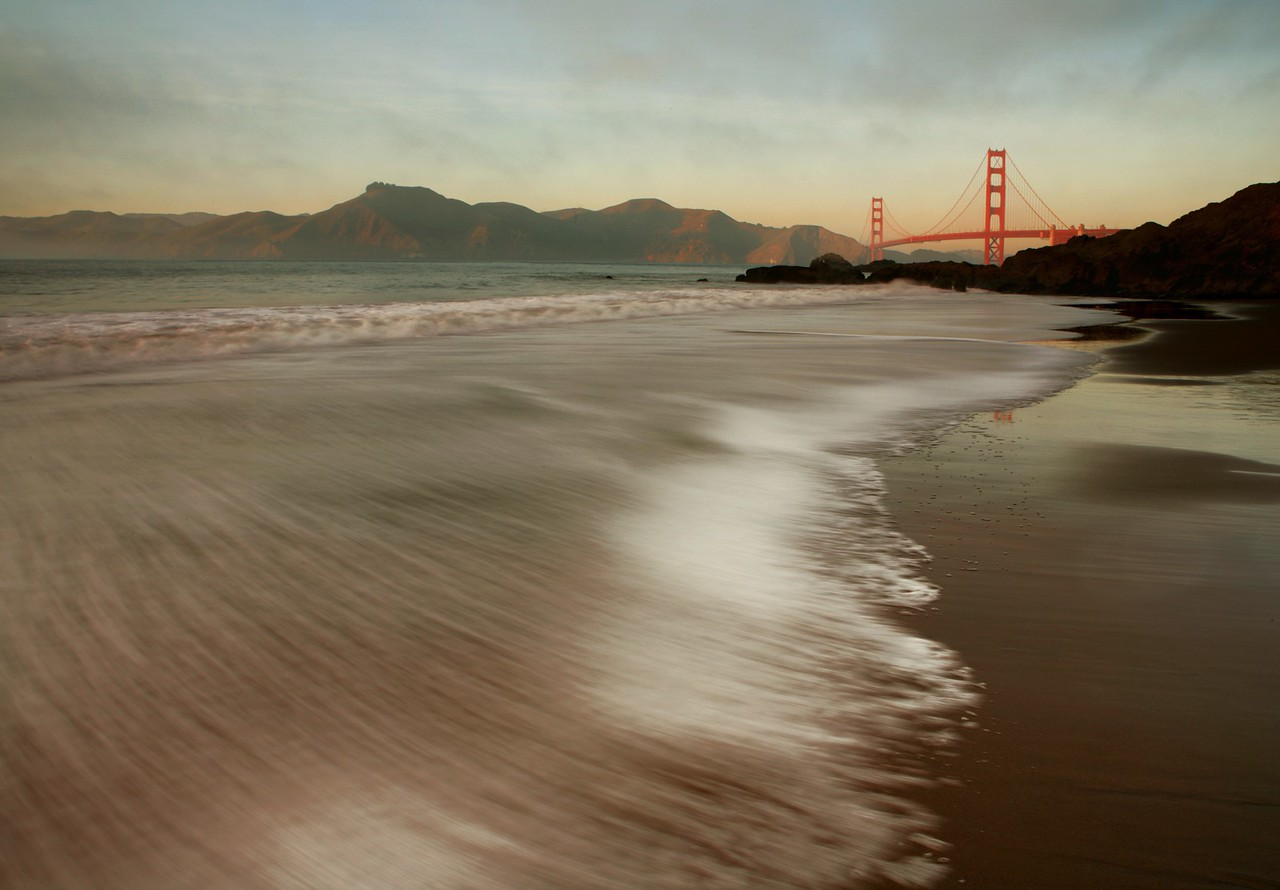 Baker Beach and the Golden Gate Bridge in San Francisco, California
