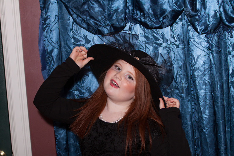 Playing dress-up at Leave Your Hat On store Oregon City, Oregon