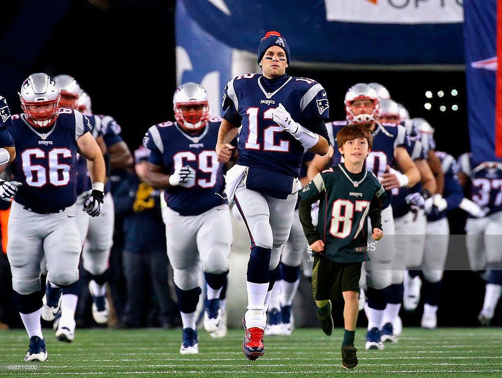 <> of the New England Patriots of the Buffalo Bills at Gillette Stadium on November 23, 2015 in Foxboro, Massachusetts.