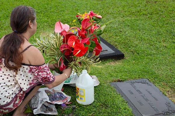 Brigitte's and Alonzo Grave Sites April 2018