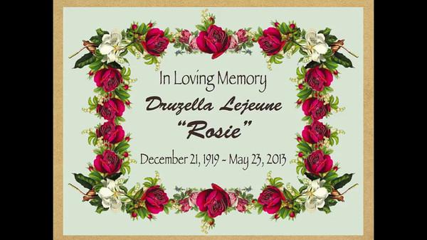 Rosie Lejeune Memorial