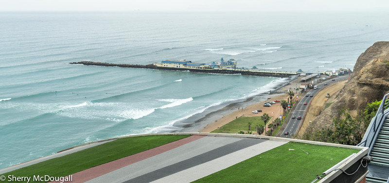 Miraflores is a district of the Lima Province in Peru. Known for its shopping areas, gardens, flower-filled parks and beaches, it is one of the upscale districts that make up the city of Lima