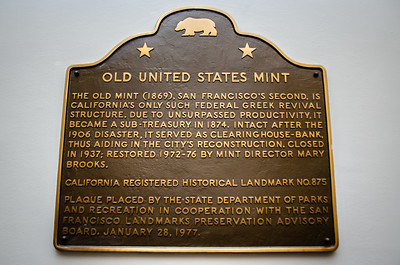 Plaque commemorating the Old United States Mint.
