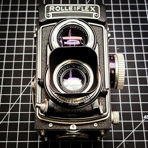 Rolleiflex heading to the bench for a CLA.