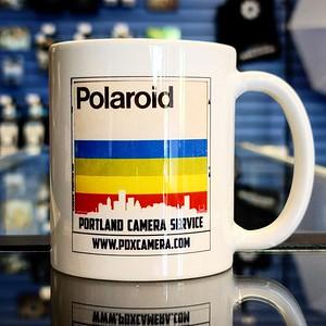 Custom Polaroid mug.