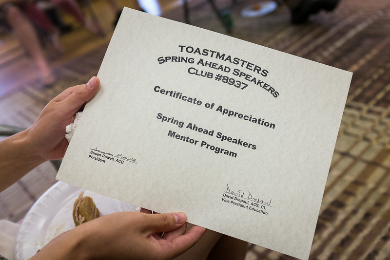 Spring Ahead Speakers Toastmasters Club - Summer Gathering-125314