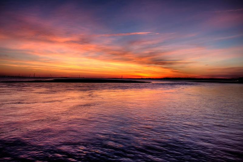Ocean City - 9th St Bridge Fishing Pier Sunset
