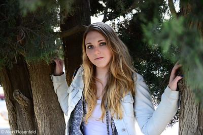 Girl Between The Trees