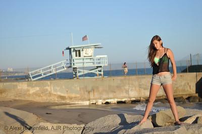 American Girl at the Beach, Santa Monica