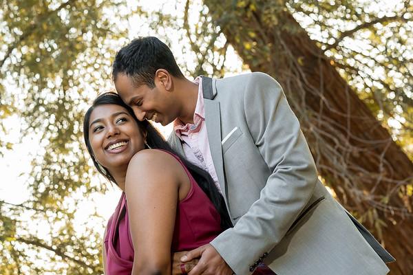 Prash & Avani engagement portrait