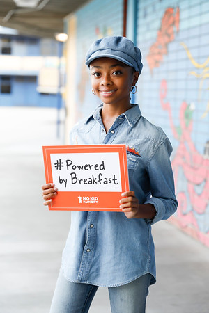 Actor Skai Jackson visits Dickison Elementary School to benefit No Kid Hungry's work to help kids eat breakfast on March 26, 2019, in Compton, California. (Photo by Reza Allah-Bakhshi/Capture Imaging)